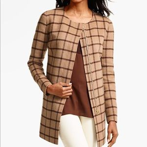 Talbots Double-Face Zip-Front Topper  Houndstooth